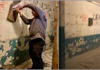 FOTO: vīrietis pats izremotēja superīgi savas mājas kāpņu telpu. Tagad kaimiņi ir ļoti pateicīgi