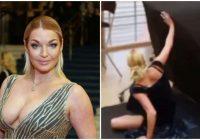 """""""Es jums parādīšu skaistumu!"""" Skandalozā krievu balerīna Voločkova, būdama reibumā, fotosesijas laikā nogāžas gar zemi"""